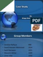 Strategic management - Case study on Krispy Kreme Doughnuts