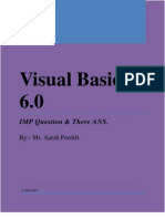 Visual Basic's IMP Ques & Ans