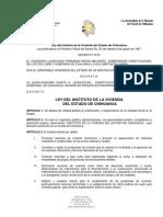 LEY DEL INSTITUTO DE LA VIVIENDA DEL ESTADO DE CHIHUAHUA