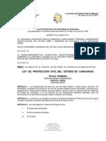 LEY DE PROTECCIÓN CIVIL DEL ESTADO DE CHIHUAHUA