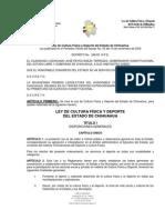 LEY DE CULTURA FÍSICA Y DEPORTE DEL ESTADO DE CHIHUAHUA