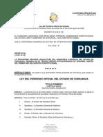 LEY DEL PERIÓDICO OFICIAL DEL ESTADO DE CHIHUAHUA