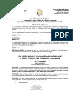 LEY DE PRESUPUESTO DE EGRESOS, CONTABILIDAD Y GASTO PÚBLICO DEL ESTADO DE CHIHUAHUA