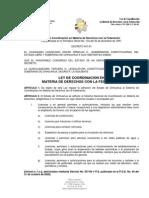 LEY DE COORDINACIÓN EN MATERIA DE DERECHOS CON LA FEDERACIÓN