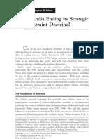 Is India Ending Its Strategic Restraint Doctrine - TWQ Spring 2011