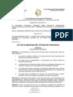 LEY DE PLANEACIÓN DEL ESTADO DE CHIHUAHUA