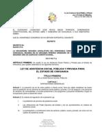 LEY DE ASISTENCIA SOCIAL PÚBLICA Y PRIVADA PARA EL ESTADO DE CHIHUAHUA