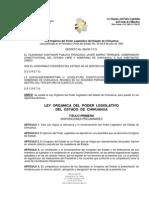 LEY ORGÁNICA DEL PODER LEGISLATIVO DEL ESTADO DE CHIHUAHUA