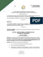 LEY DE JUSTICIA PENAL ALTERNATIVA DEL ESTADO DE CHIHUAHUA