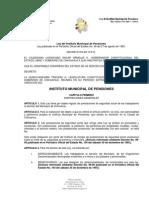 LEY DE INSTITUTO MUNICIPAL DE PENSIONES