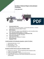 Metode Kerja Produksi Beton Ringan Untuk Pekerjaan Badan Jalan Dan Opret Jembatan
