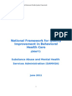 National Behavioral Health Framework Draft