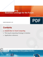 Cloud Computing - Business Leverage for the Future