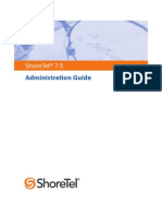 ShoreTel - Shoretel 7.5 Admin Guide