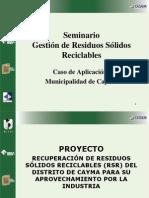 Gestión de Residuos Sólidos Reciclables - Cayma PUNO