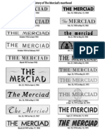 History of The Merciad's mastheads