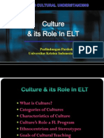 Culture & Its Role in a Foreign Language Program