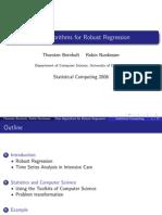 Fast Algorithms for Robust Regression