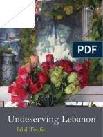 Jalal Toufic Undeserving Lebanon