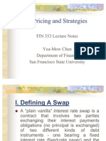 Swaps Pricing and Strategies
