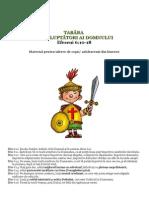 materiale tabara pentru copii armura Efeseni 6