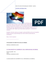 Monografia Sobre Direitos Civis Dos Homossexuais No Brasil