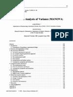 Multivariate Analysis of Variance (MANOVA) - Stahle