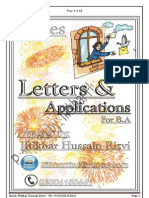 Letters and application for B.A english language paper B, punjab university Lahore, pakistan