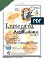 Letters and application for B.A english language paper B, punjab university Lahore, pakistan