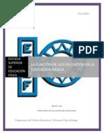 LA FUNCIÓN DE LA EVALUACIÓN EN LA EDUCACIÓN BÁSICA-ENSAYO