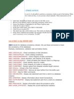 SQL Consistency Check Errors