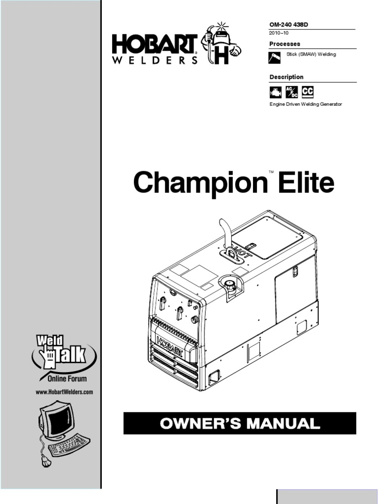 champion elite owner s manual battery charger welding rh scribd com