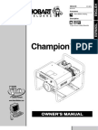 Champion 4500 Owner's Manual