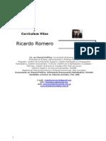 Curriculo Ricardo Romero Mayo 2011