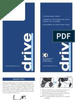 Deluxe 3-Wheel Steel Rollator Owner's Manual