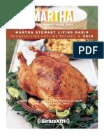 Martha Stewart Thanksgiving CookBook 2010