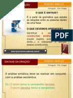 SLIDE - SINTAXE DA ORAÇÃO - PERÍODO SIMPLES