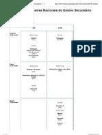 Calendário de Exames Nacionais do Ensino Secundário - 1.ª Fase (2011)