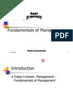 Fundemantals of Mgt