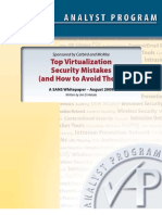 Virtualization Security Mistakes