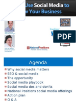 National Positions - How to Use Social Media To Grow Your Business