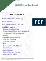 2002-03 Lake County Grand Jury Final Report