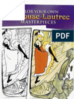 Color Your Own Toulouse-Lautrec Masterpieces (Dover Pictorial Archives)