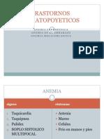 TRASTORNOS HEMATOPOYETICOS