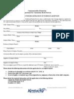 Registration of Foreign Adoption