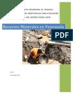 Recursos Minerales en Venezuela