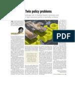 Twin Policy Problem_Prakash June 13 2011_The Kathmandu Post