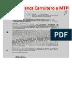 Carta de Blanca C a MTPE