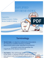 Oral Hygiene Index-simplified