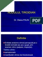Nodulul Si Cancerul Tiroidian